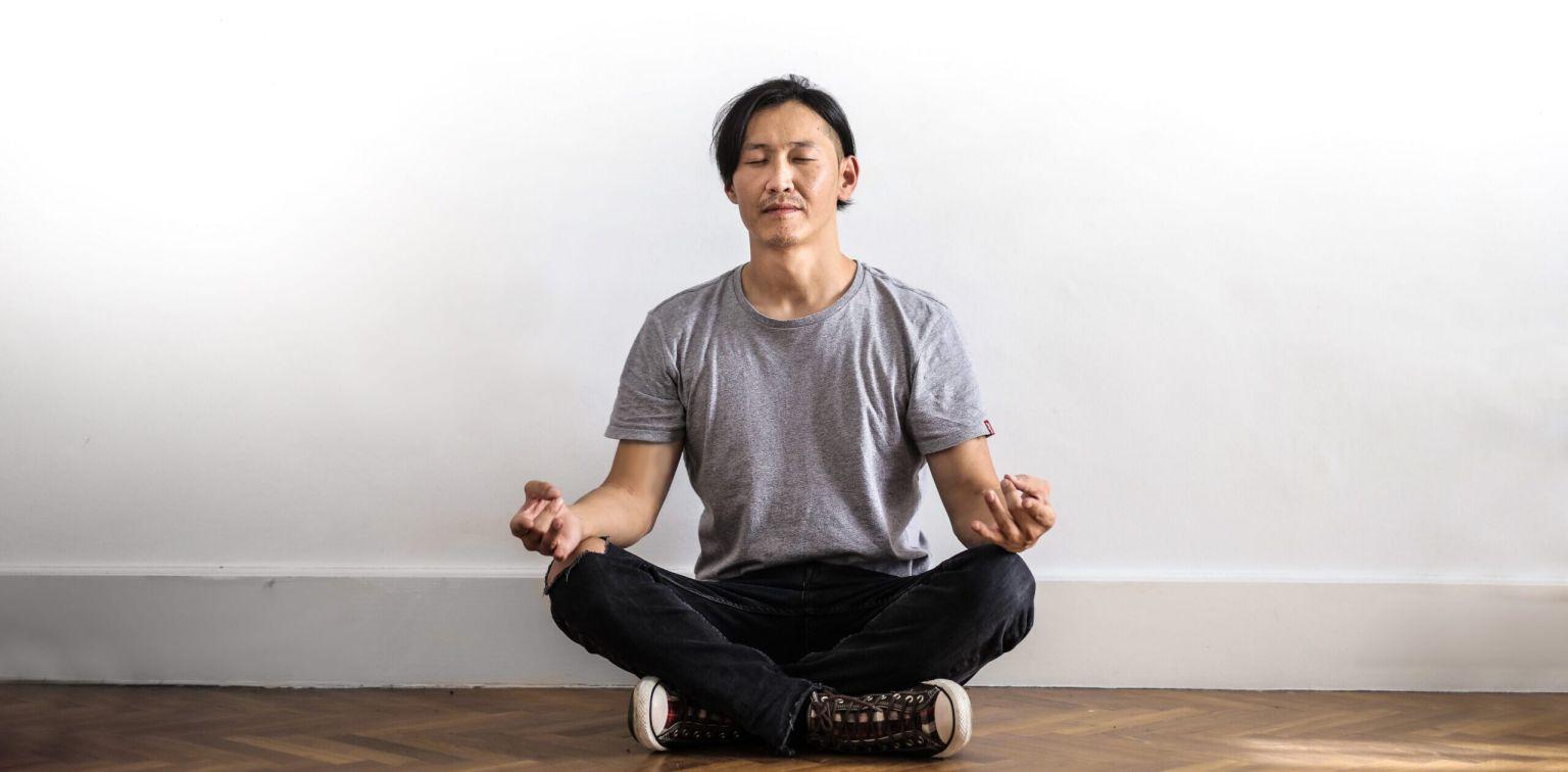 Meditating man   The Healthier Home